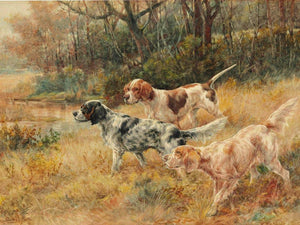 Three Pointers In A Field By Edmund Henry Osthaus