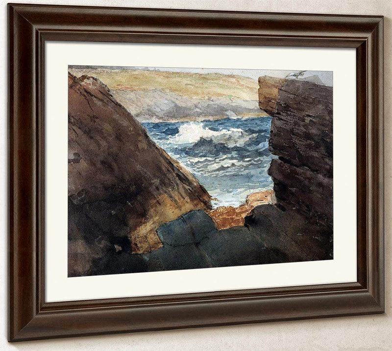 Through The Rocks By Winslow Homer