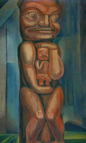 Totem Mother By Kitwancool By Emily Carr By Copy
