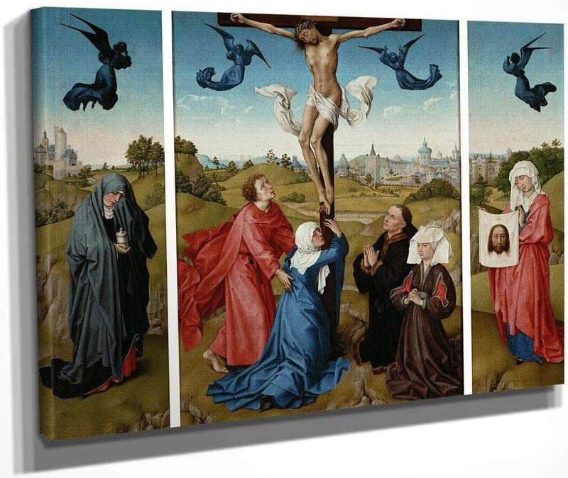 Triptych The Crucifixion 1445 By Rogier Van Der Weyden