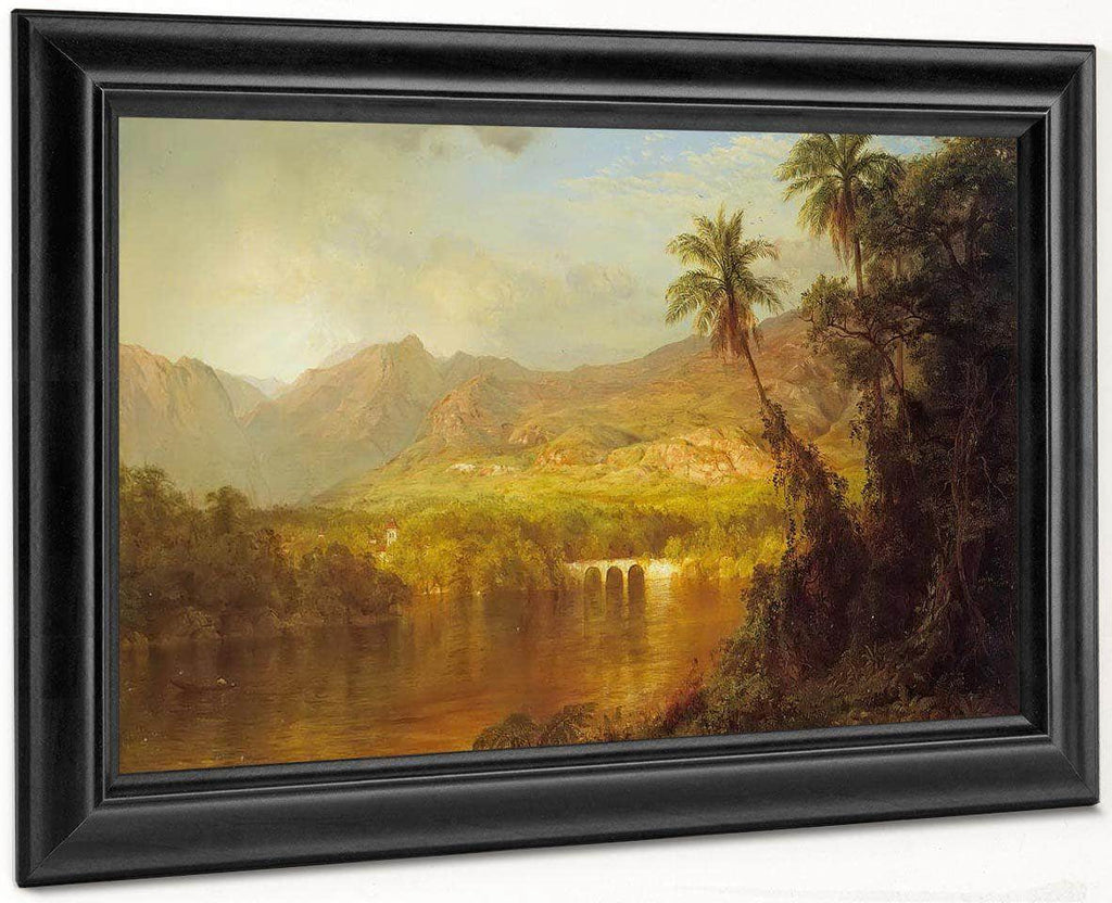 Tropical Scenery By Fredric Edwin Church