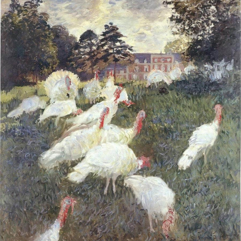 Turkeys By Claude Monet