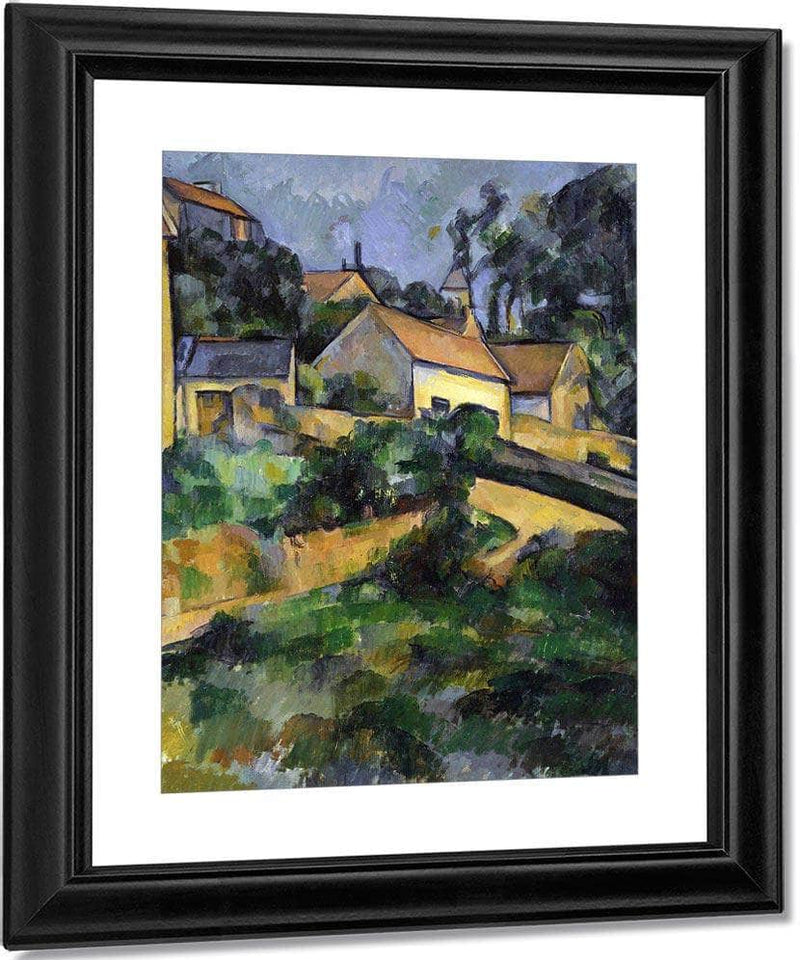 Turning Road At Montgeroult By Cezanne Paul