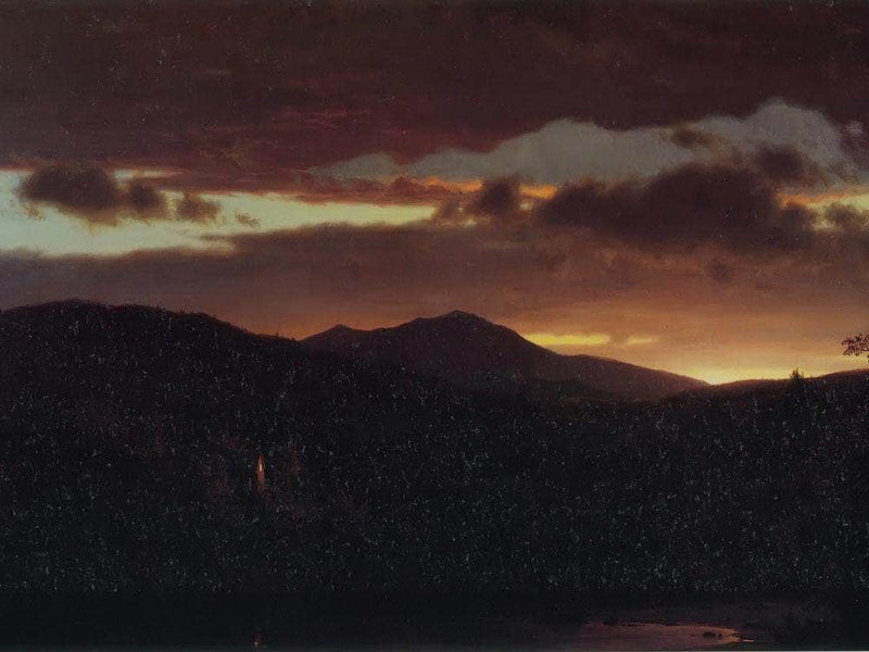 Twilight Catskill Mountain By Fredric Edwin Church