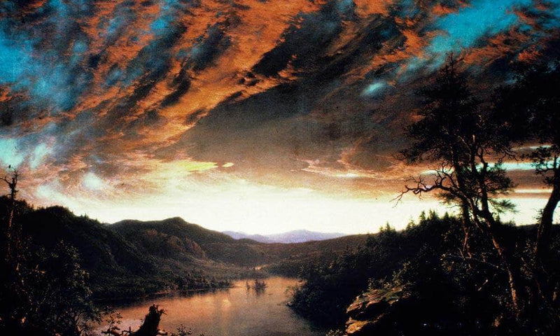 Twilight In The Wilderness By Fredric Edwin Church By 01