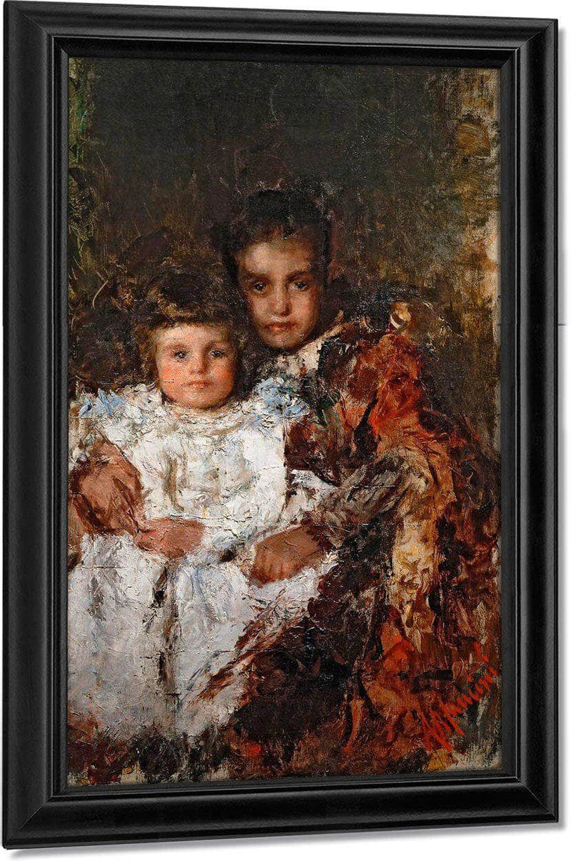 Two Cousins By Antonio Mancini