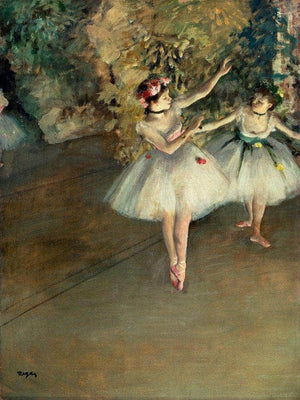 Two Dancers On A Stage 1874 By Edgar Degas
