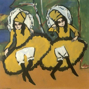 Two Dancing Girl 191011 By Ernst Ludwig Kirchner