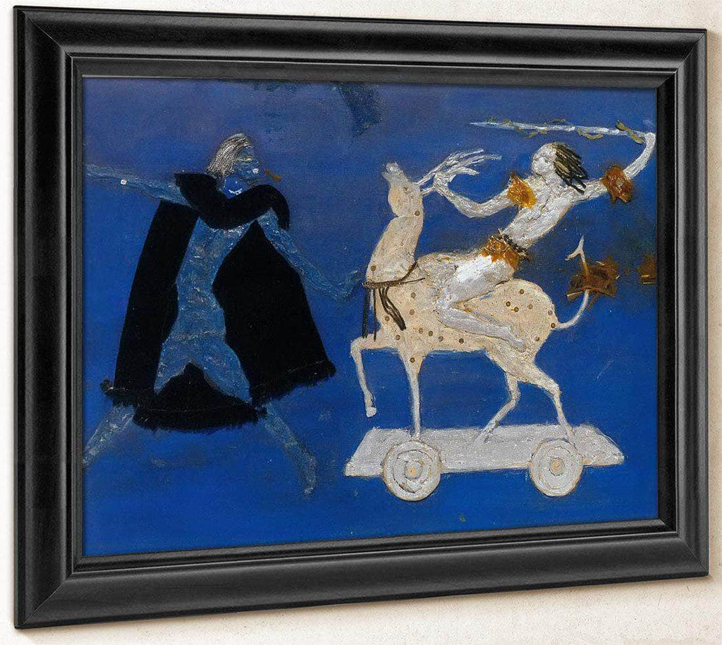 Two Figures And Four Legged Animal By Florine Stettheimer
