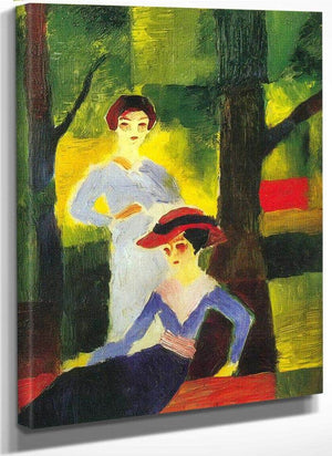 Two Girls In The Forest By August Macke