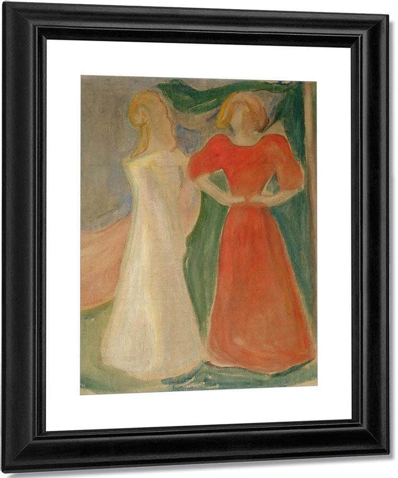 Two Girls By Edvard Munch