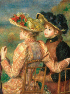 Two Girls By Pierre August Renoir