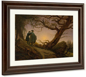 Two Men Contemplating The Moon 1830 By Caspar David Friedrich