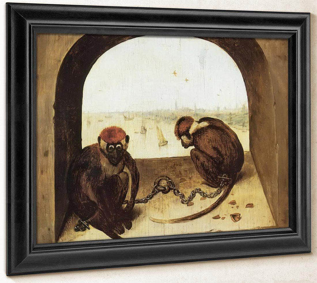 Two Monkeys 1562 By Pieter Bruegel