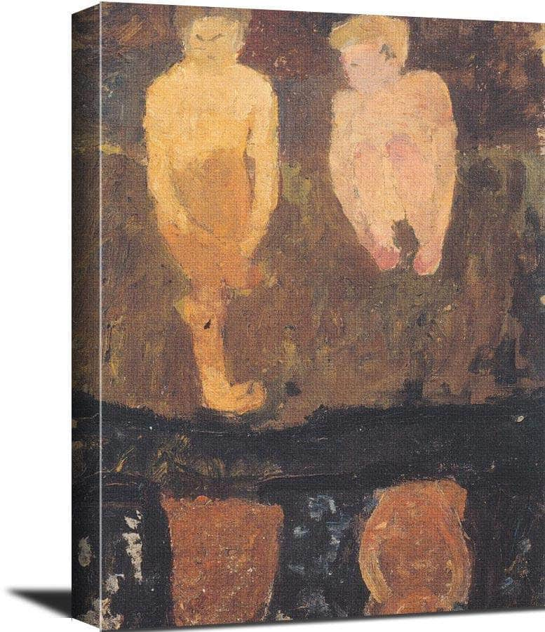 Two Naked Boys Squatting On The Shore Paula Modersohn Becker