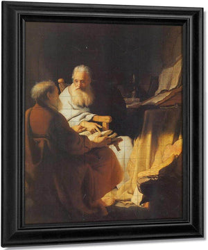 Two Scholars Disputing By Rembrandt