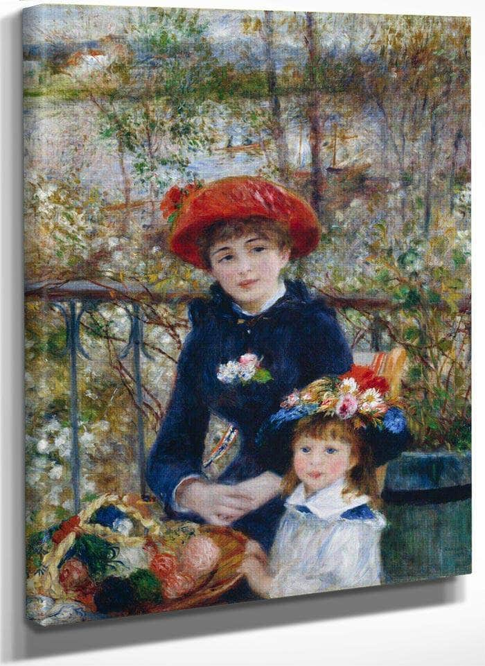 Two Sisters (On The Terrace) By Pierre August Renoir