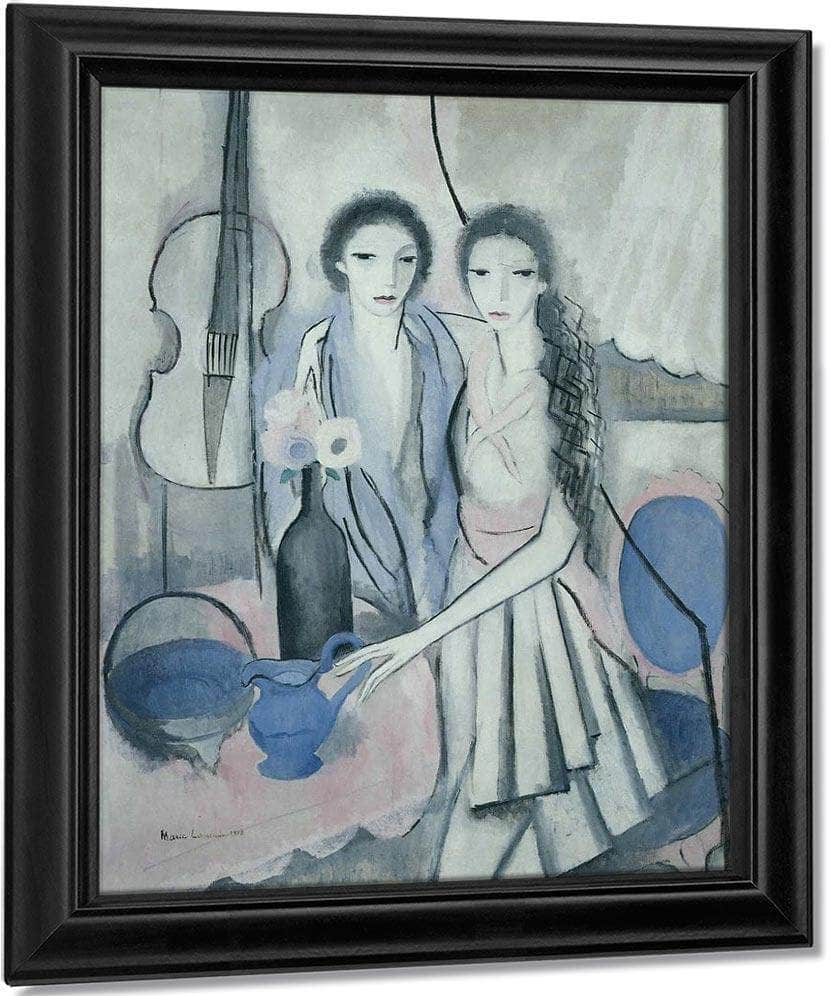 Two Sisters With A Cello 1914 By Marie Laurencin