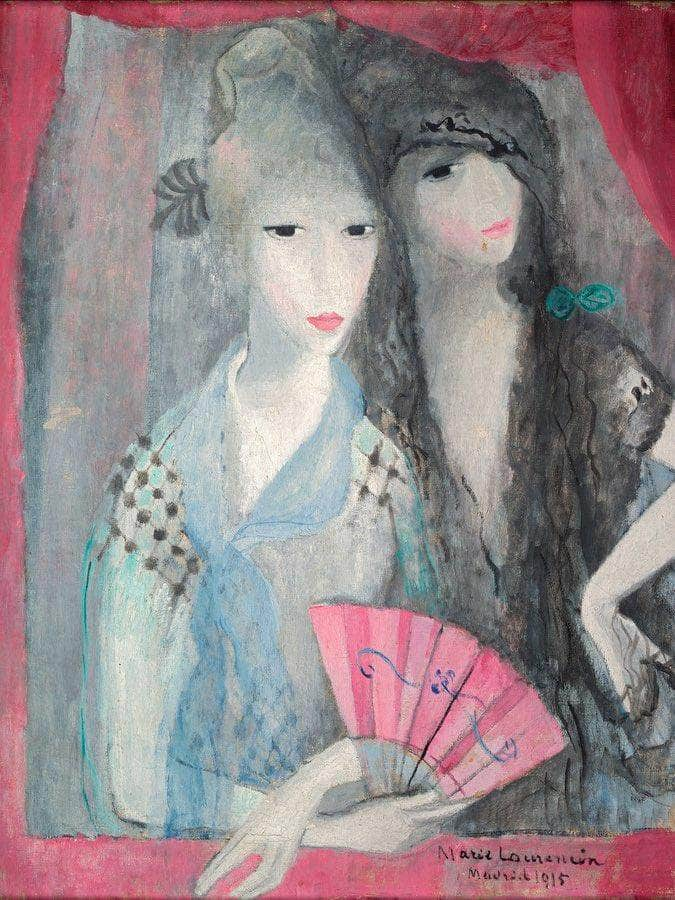 Two Spanish Girls 1915 By Marie Laurencin