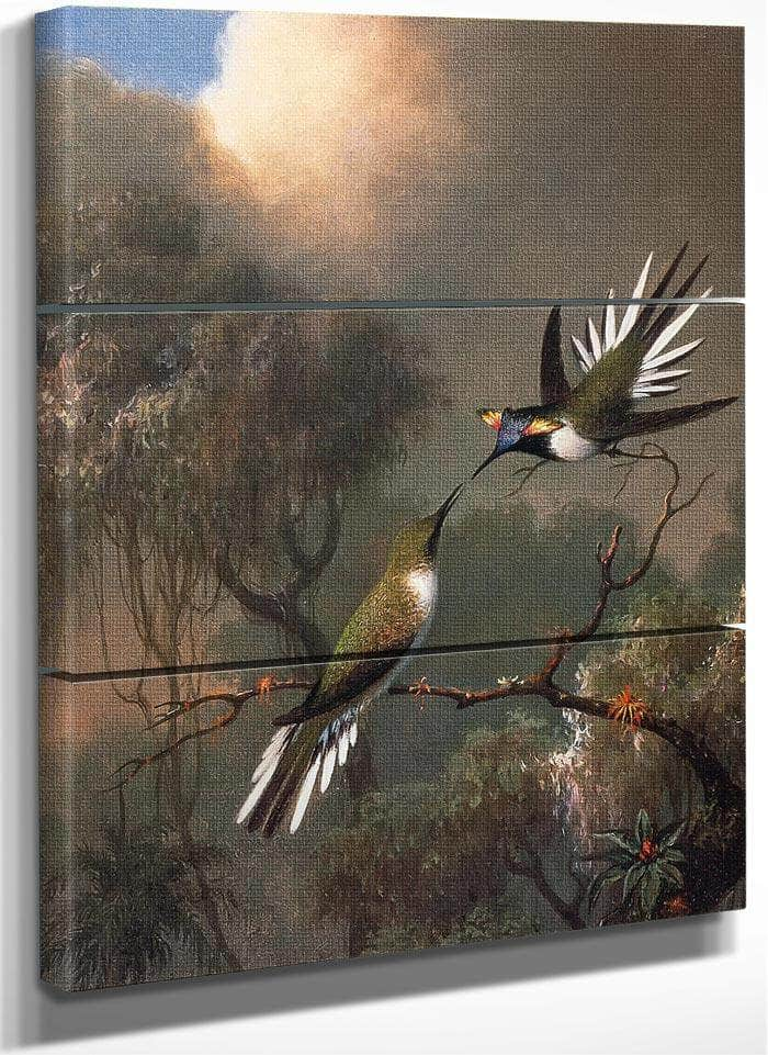 Two Sun Gems On A Branch By Martin Johnson Heade