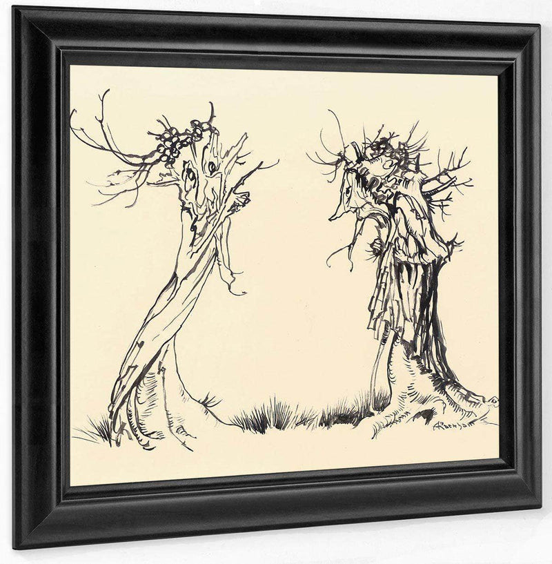 Two Trees By Arthur Rackham
