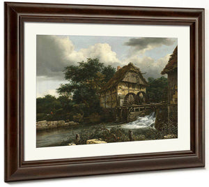 Two Watermills And An Open Sluice By Jacob Van Ruisdael