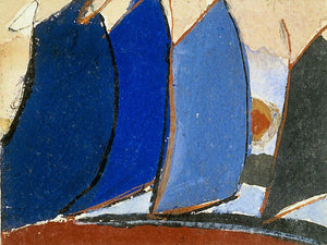 Untitled (Four Blue Gray Sail Like Forms) By Arthur Dove