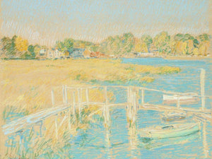 Up The River, Late Afternoon, October By Childe Hassam