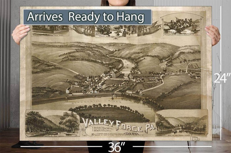 Valley Forge Pa 1890 Vintage Map