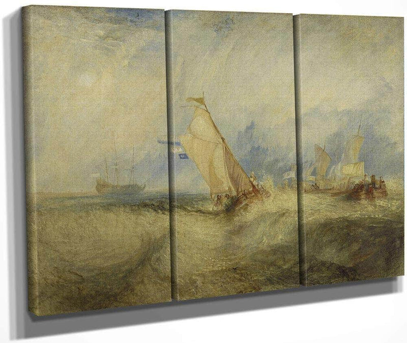 Van Tromp Going About To Please His Masters Ships A Sea Getting A Good Wetting By Joseph Mallord William Turner