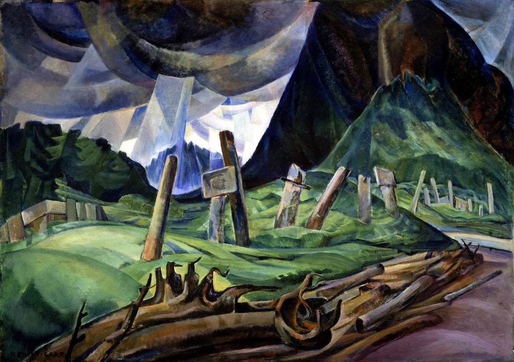 Vanquished Painting Emily Carr Canvas Art