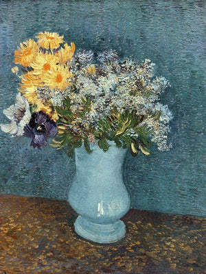 Vase Of Flowers By Vincent Van Gogh