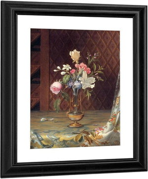 Vase Of Mixed Flowers By Martin Johnson Heade