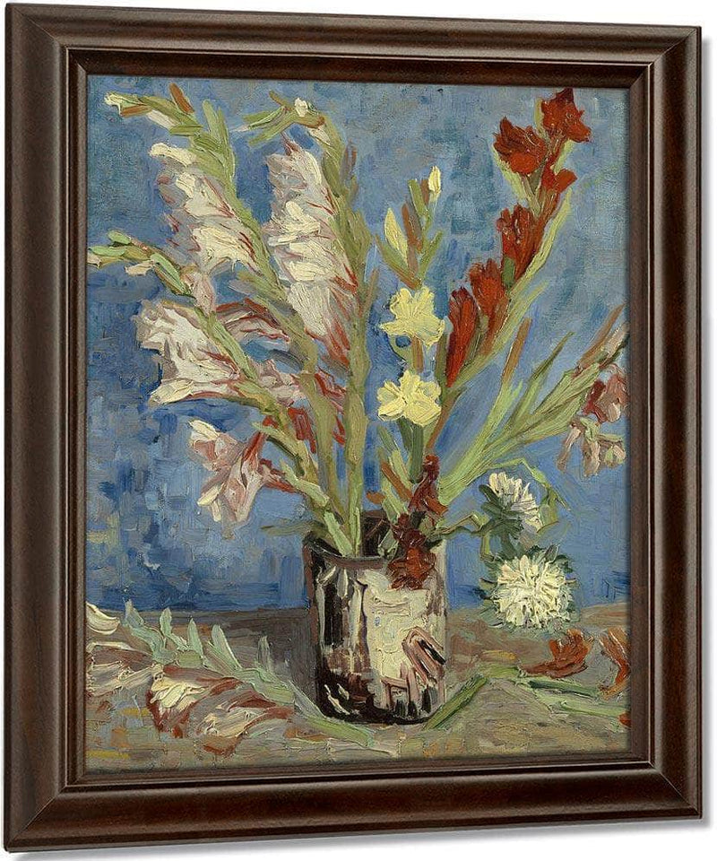 Vase With Gladioli And Chinese Asters By Vincent Van Gogh
