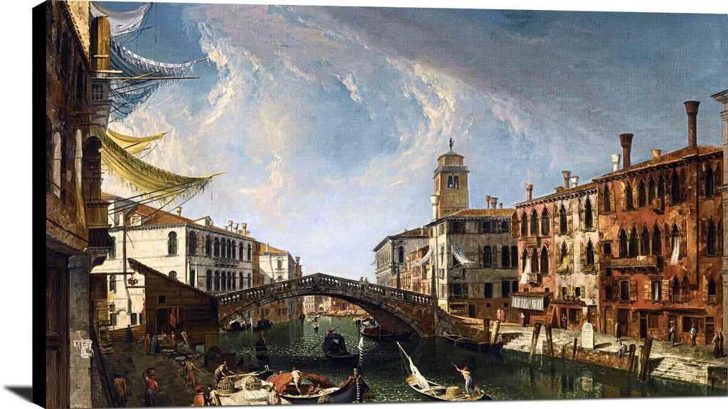 Venice, View Of The Cannaregio Painting Michele Marieschi Canvas Art