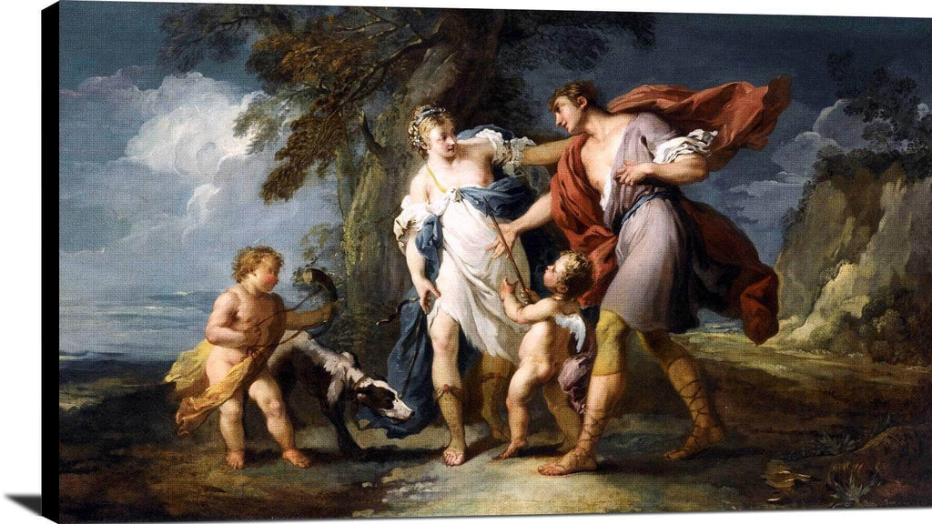 Venus And Adonis Painting Franois Boucher Canvas Art