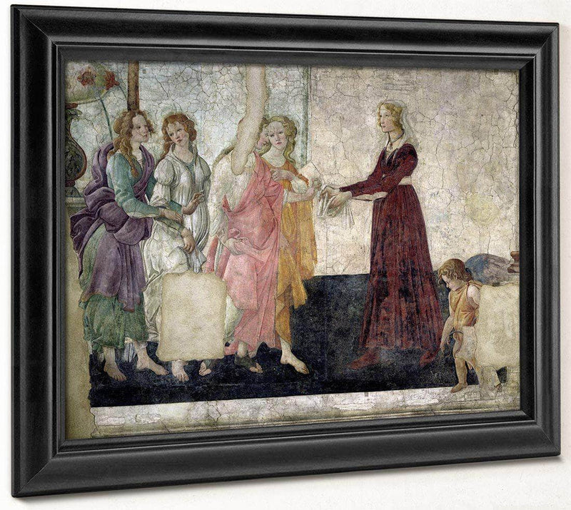 Venus And The Graces Offering Gifts To A Young Girl By Sandro Botticelli