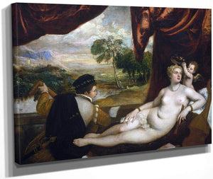 Venus And The Lute Player By Titian
