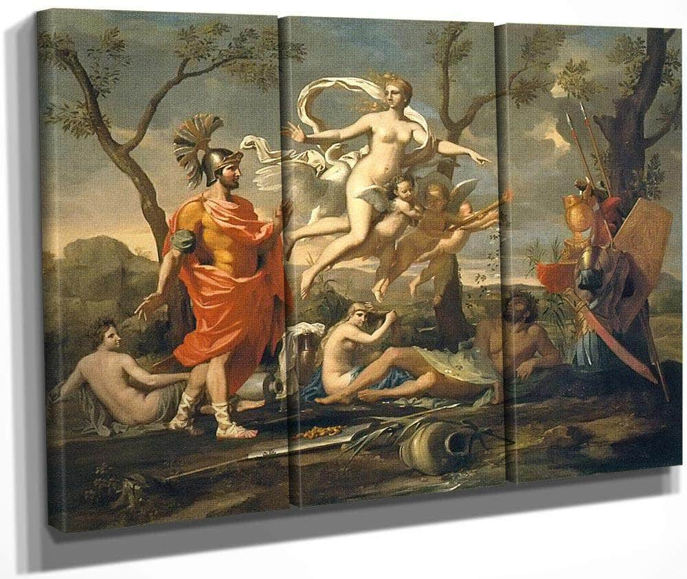 Venus Presenting Aeneas With His Arms By Nicholas Poussin