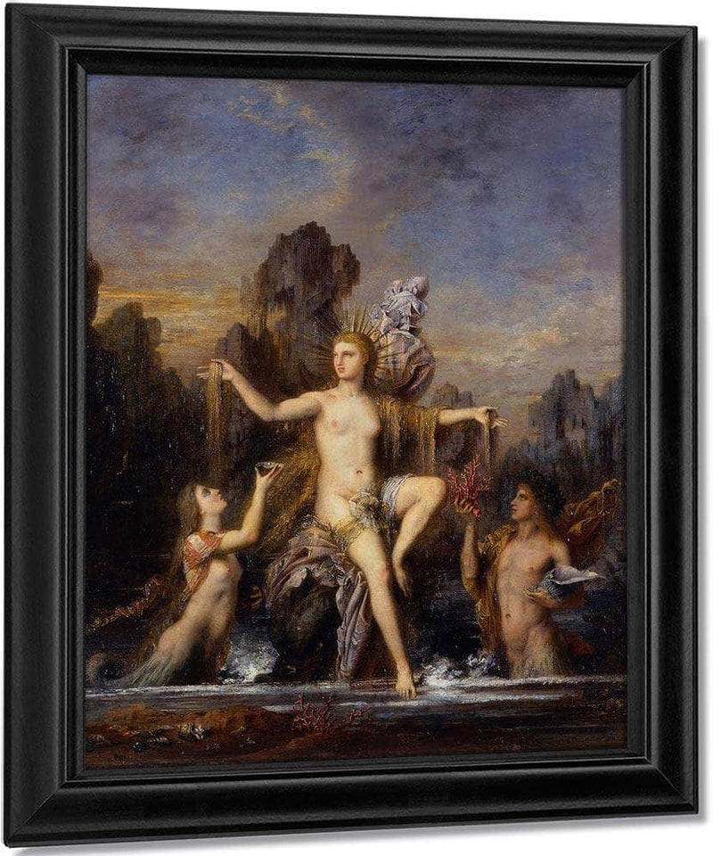 Venus Rising From The Sea 1866 By Gustave Moreau
