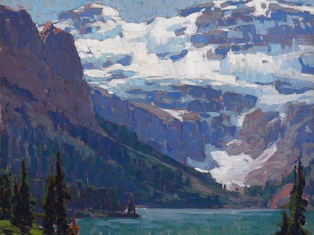 Victoria Glacier, Lake Louise By Edgar Payne