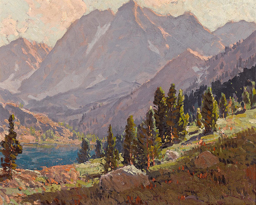 View At Sabrina Lake, Inyo County By Edgar Payne