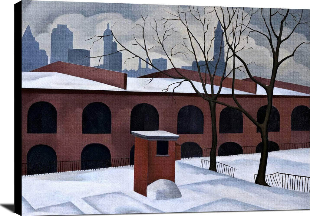 View From Brooklyn Painting George Copeland Canvas Art