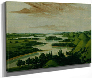 View From Floyd's Grave, 1300 Miles Above St. Louis By George Catlin