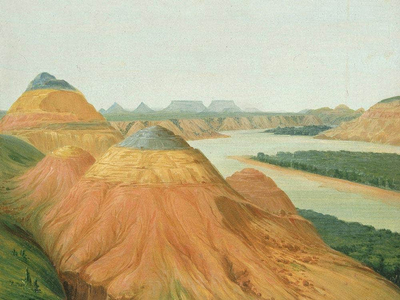 View In The Big Bend Of The Upper Missouri By George Catlin