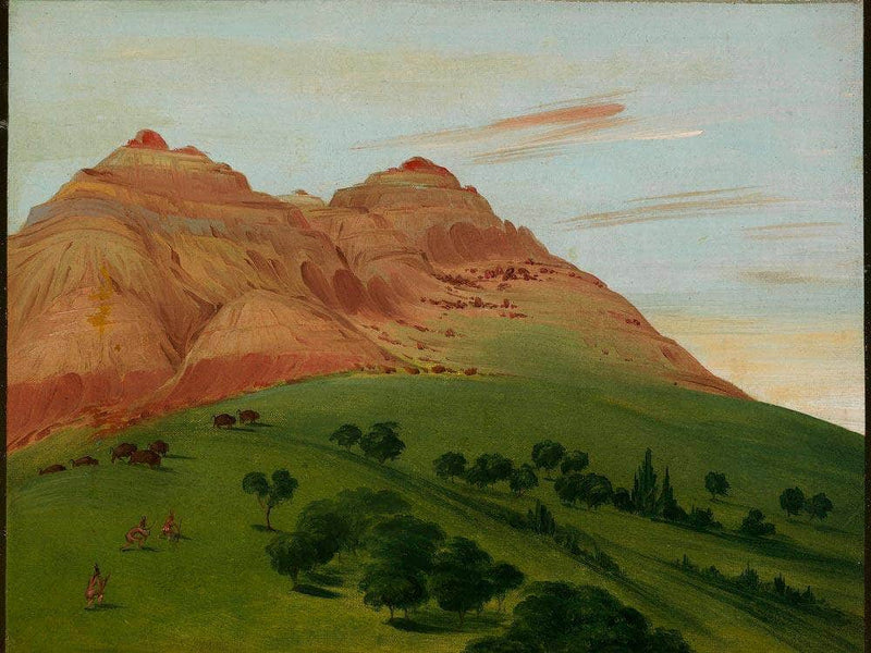 View In The Grand Detour, 1900 Miles Above St. Louis By George Catlin
