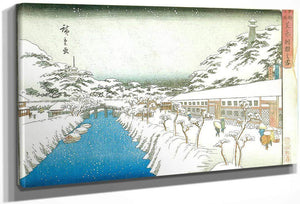 View Of A Canal In The Snow By Hiroshige