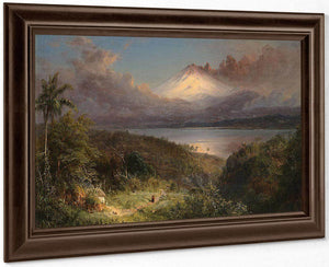 View Of Cotopaxi By Frederic Edwin Church