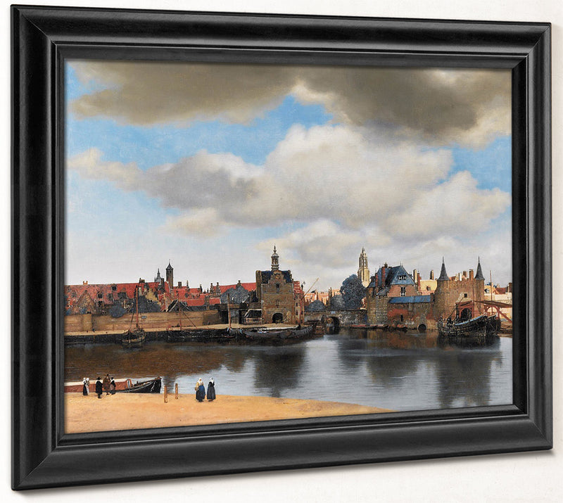 View Of Delft 1661 By Johannes Vermeer