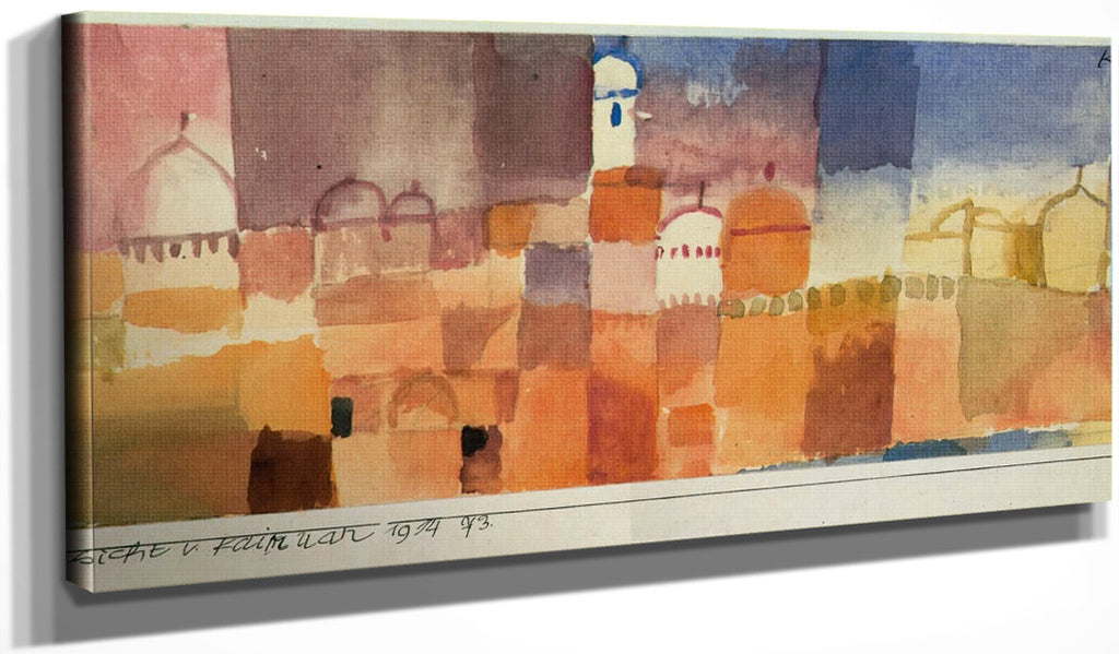 View Of Kairuan 1914 73 By Paul Klee